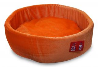 Лежак-таблетка оранжевый флис