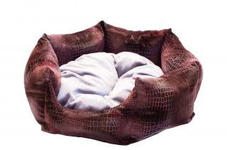 Бритни рептилия (розово-серый) 45х45х22 см