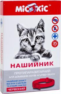 Ошейник от блох и клещей для кошек «Мис Кис СУПЕР-ХЕЛП» (красный)