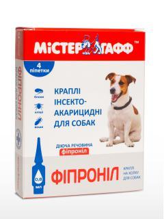"""Капли от блох и клещей """"Мистер Гафф Фипронил"""" для собак весом 2-10 кг"""